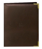 2.5'X3.5' WALLET 24 PHOTO OXFORD BRASS CORNER SERIES - BROWN - Photo Album