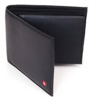 Alpine Swiss Men's Leather Bifold Wallet with Flip Up ID Window
