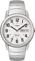 Timex Men's Easy Reader Silver-Tone Stainless Steel Expansion Band Watch