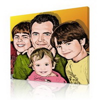 Personalized Gifts - Exclusive Warhol pop art pictures on canvas from your family photos